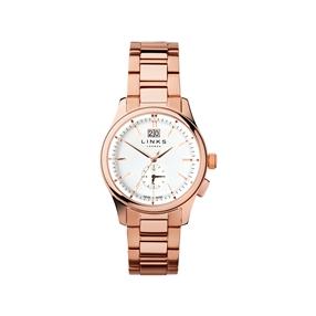Regent Mens Rose Gold Plate Bracelet Watch-