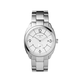 Brompton Mens Stainless Steel Bracelet Watch With White Dial-