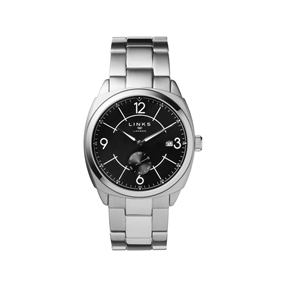 Brompton Mens Stainless Steel Bracelet Watch With Black Dial-